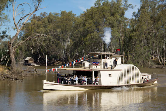 Schaufelraddampfer PS Adelaide in Echuca