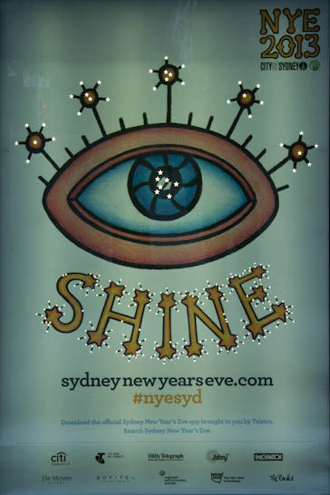 Shine, das Motto am Silvester 2013/14 in Sydney