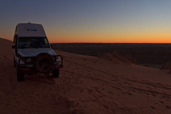 Unser Camp auf der Big Red in der Simpson Desert